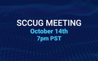 SCCUG Meeting 10/14/21